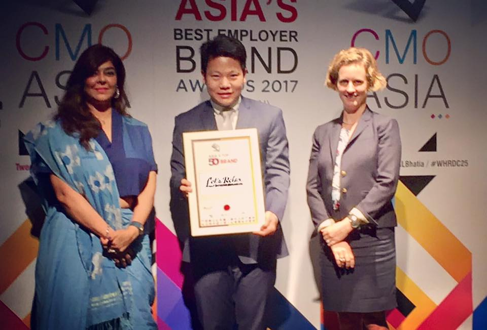 """Let's Relax"" takes top honor at Asia's Top 50 Brands Award"