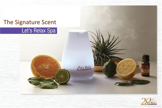 Let's Relax Spaのシグネチャーブレンドの香り:スパ体験の第一印象