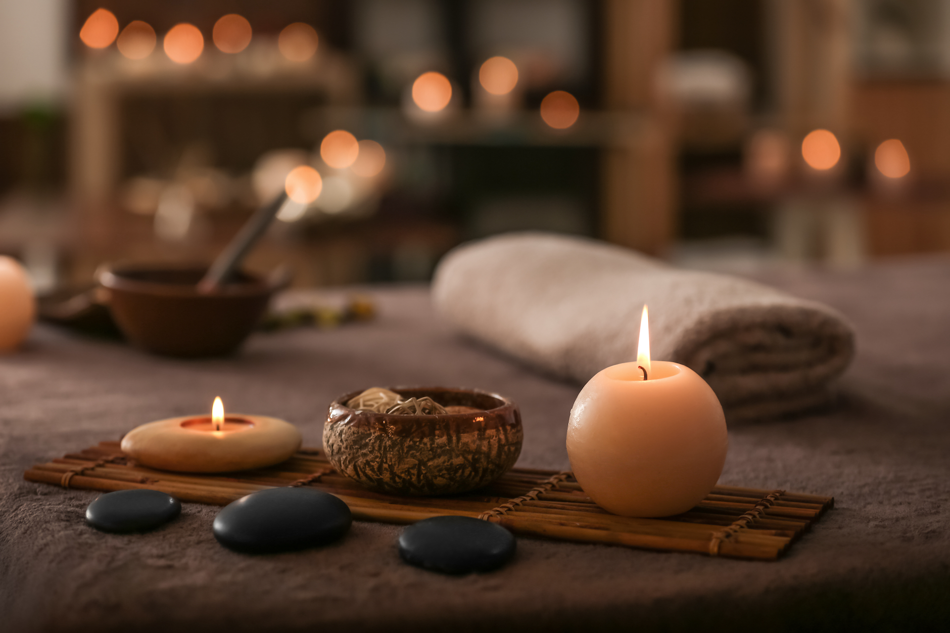 spa candle relaxing
