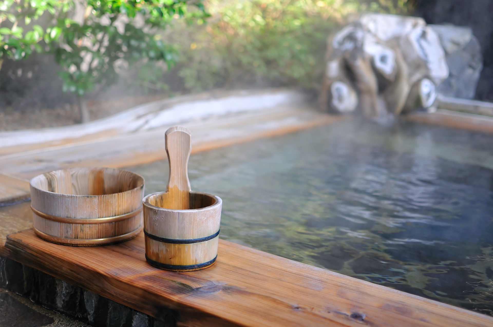 Japanese open air spa Onsen