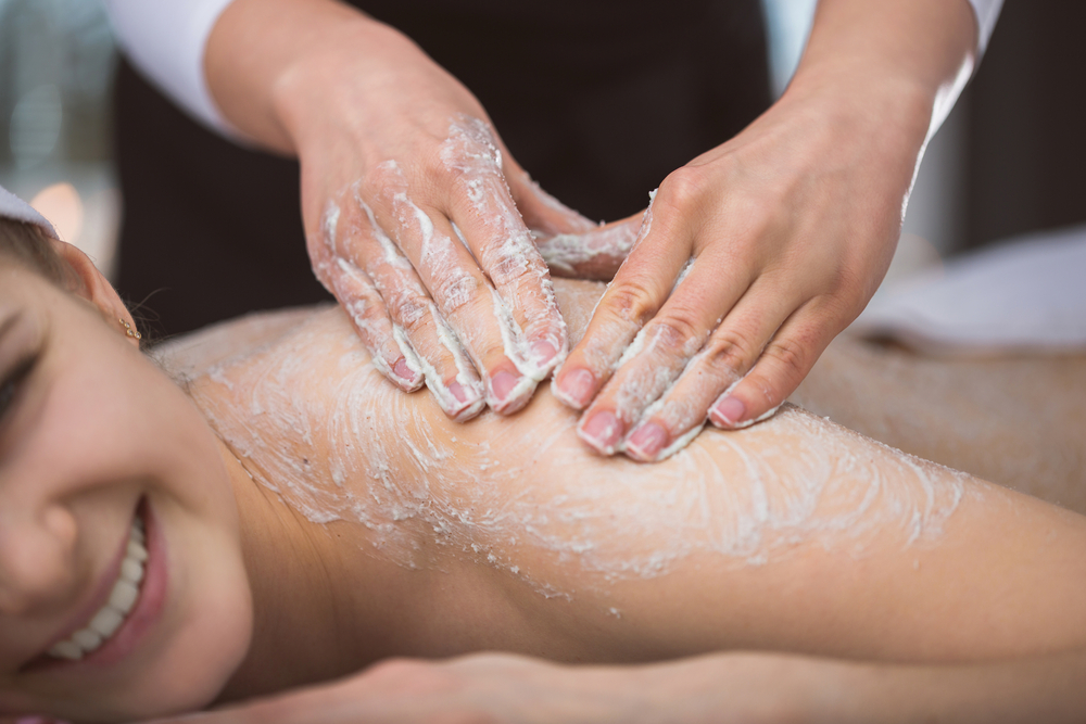 Body scrubs use natural abrasives to gently exfoliate your skin.